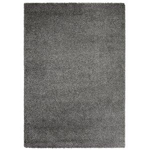 Hoogpolig vloerkleed grijs 30 mm
