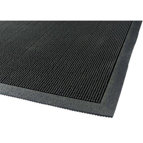 Rubberen deurmat zwart groot
