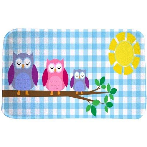 Kindervloerkleed met afbeelding uilen