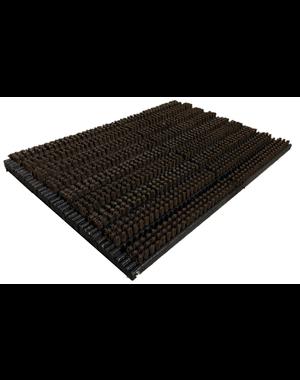 Borstelmat zwart/bruin