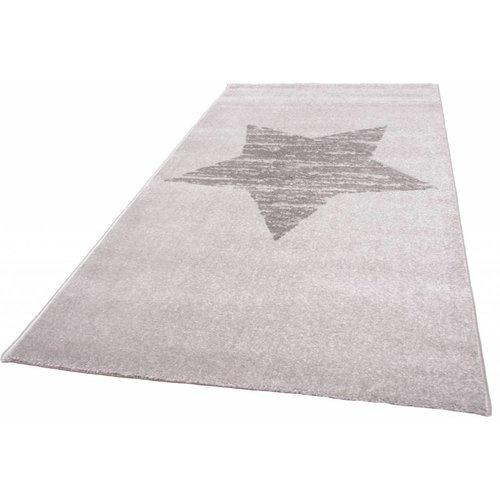 Modern vloerkleed grijs met ster