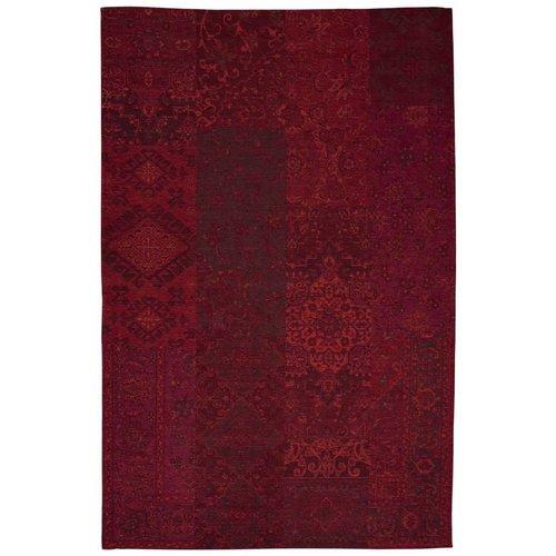 Vintage vloerkleed patchwork rood