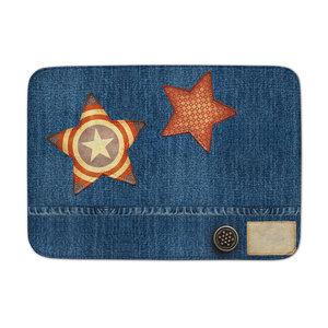 Achoka Kindervloerkleed jeanslook met sterren