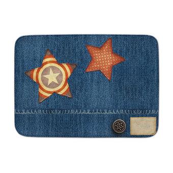 Achoka Kindertapijt jeanslook met sterren