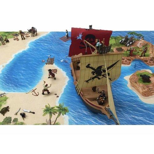 Speelmat piraten groot