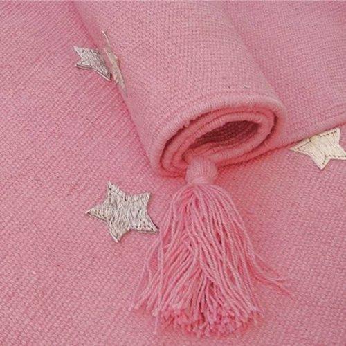 Kindervloerkleed roze met sterren