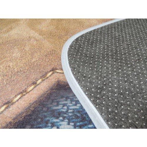 kindervloerkleed jeanslook met ster