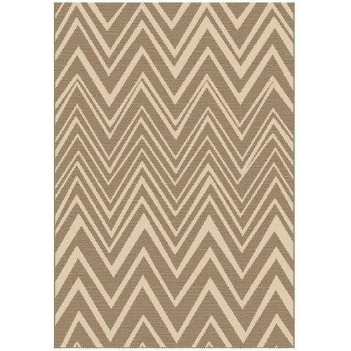 Modern vloerkleed sisal look bruin/beige