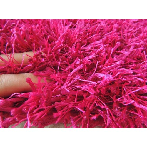 Hoogpolig vloerkleed fuchsia 45mm