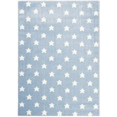 Kindervloerkleed blauw met sterren