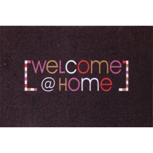 Deurmat multicolor Welcome @ home
