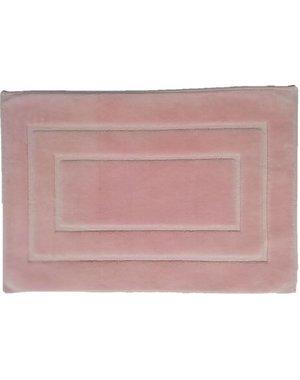 Badmat katoen roze