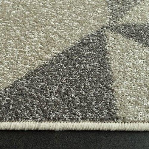 Modern vloerkleed grijs met patroon