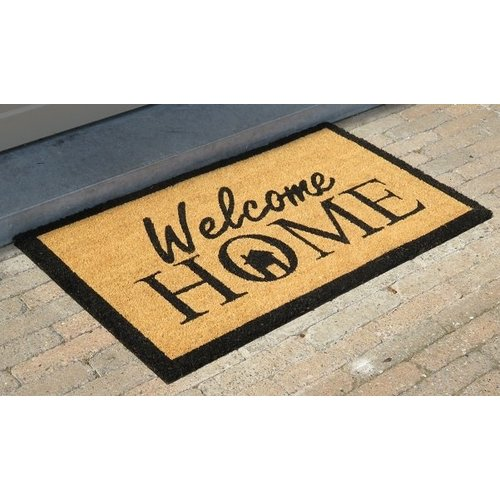 Kokosmat met opdruk Welcome home