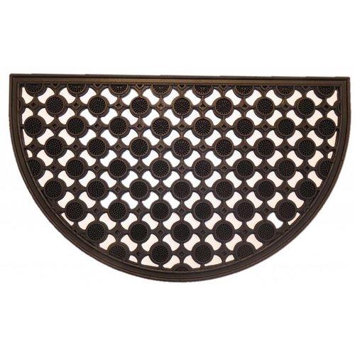 Rubber deurmat open pinmat halfrond