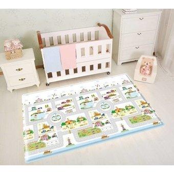 Anti-allergie speelmat dorp