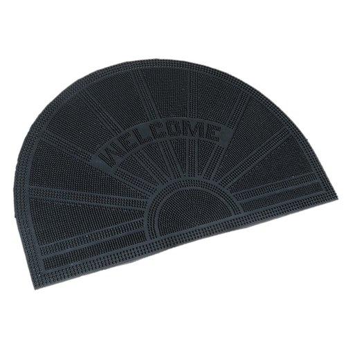 Rubber deurmat pinmat halfrond Welcome