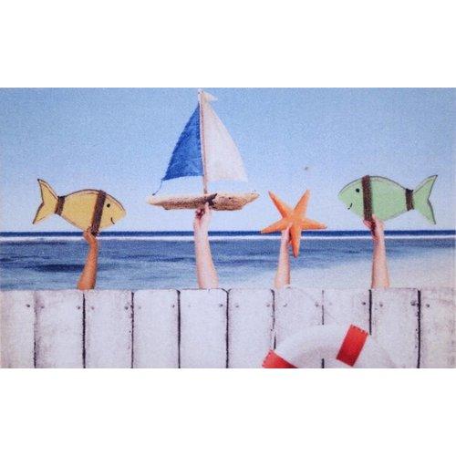 Deurmat met zee