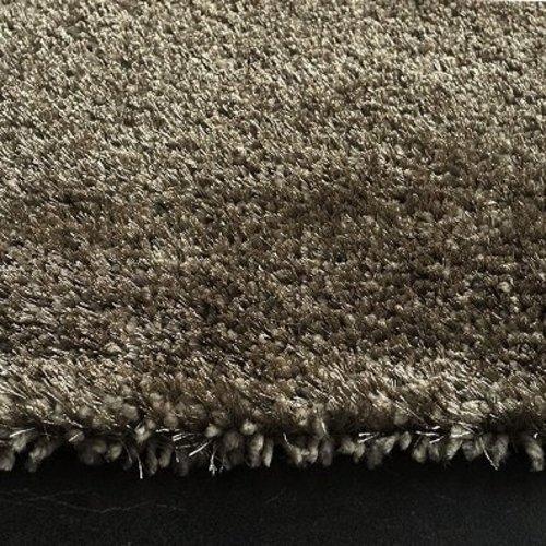 Hoogpolig vloerkleed taupe luxe 40 mm