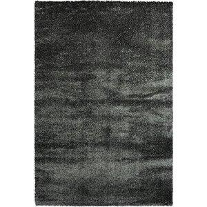 Hoogpolig vloerkleed antraciet luxe 40 mm