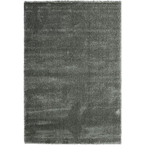 Hoogpolig vloerkleed zilver luxe 40 mm
