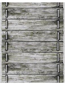 Antislipmat op maat met houtlook