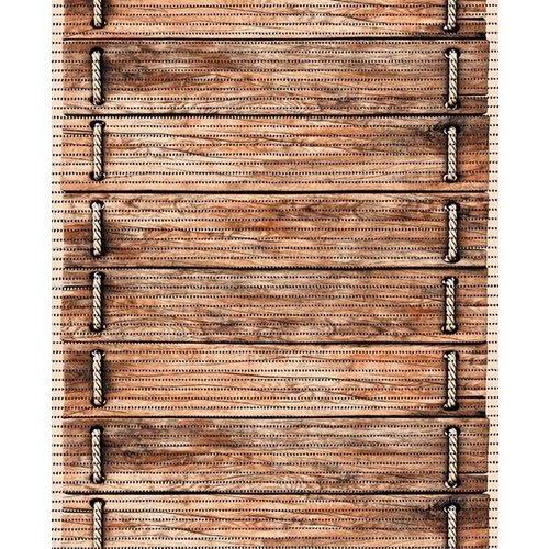 Antislipmat op maat, houtlook