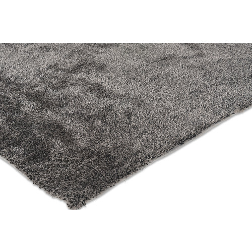 Hoogpolig vloerkleed antraciet luxe 20 mm