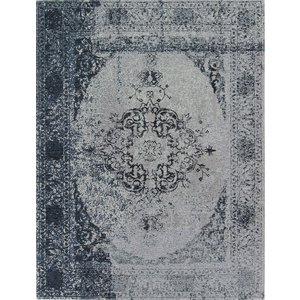 Vintage vloerkleed met medaillon, blauw