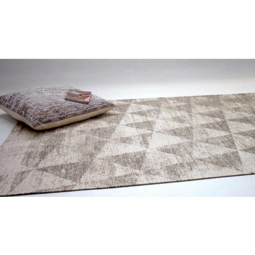 Modern vloerkleed met geometrische print, grijs