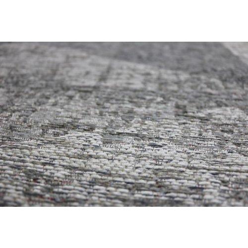 Modern vloerkleed met geometrische print, zilver