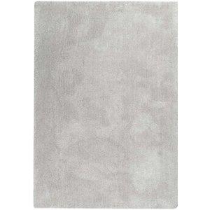 Hoogpolig vloerkleed parelwit, 25 mm, op maat