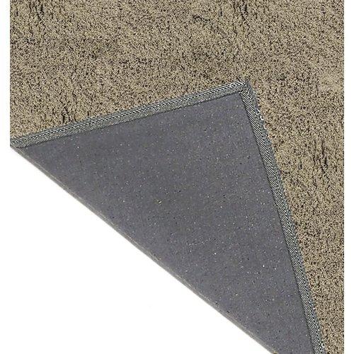 Hoogpolig vloerkleed taupe, 35 mm, op maat