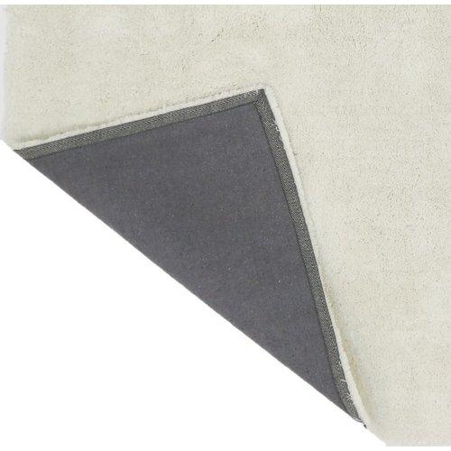 Hoogpolig vloerkleed wit, 35 mm, op maat