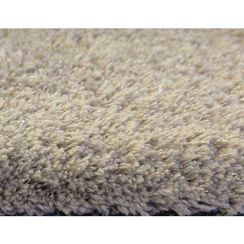 Hoogpolig vloerkleed taupe, 25 mm, op maat