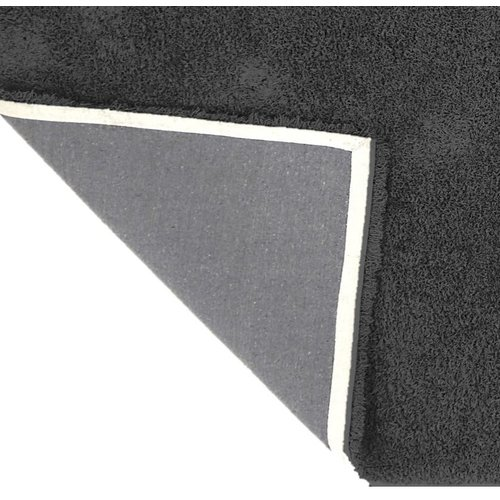 Hoogpolig vloerkleed antraciet, 45 mm, op maat