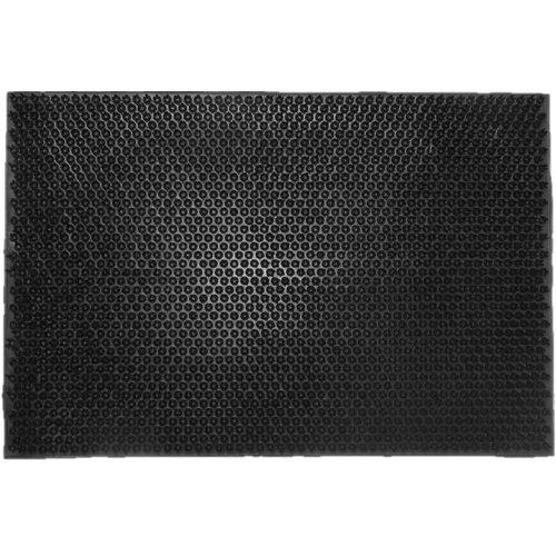 Schrapend grasmatje zwart in rubber