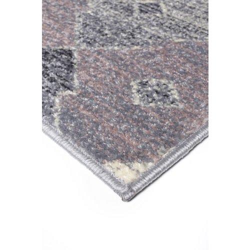 Modern vloerkleed, zilver en roze