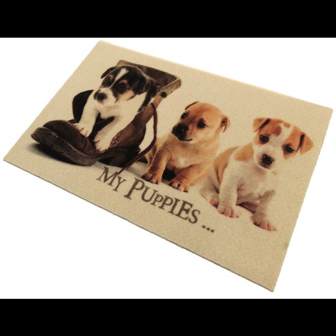 Deurmat foto 3 puppies
