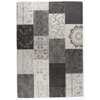 Vintage vloerkleed patchwork grijs