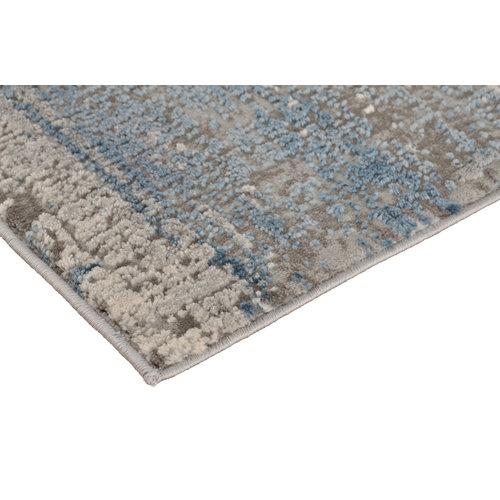 Modern vloerkleed in blauw en grijs
