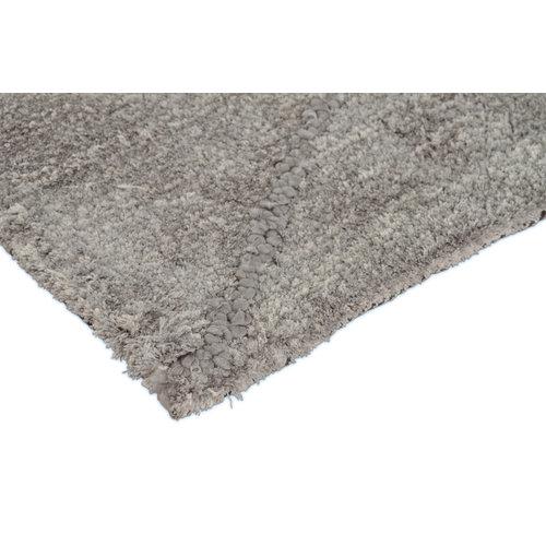 Modern vloerkleed met ruitdessin grijs