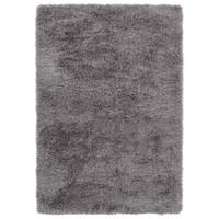 Hoogpolig vloerkleed in polyester mix  grijs