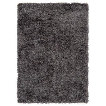Hoogpolig tapijt in polyester mix  donkergrijs
