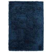 Hoogpolig vloerkleed in polyester mix  blauw