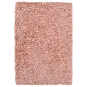 Hoogpolig vloerkleed in polyester mix  roze
