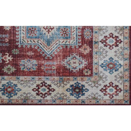 Vintage vloerkleed, bedrukt, etnisch dessin