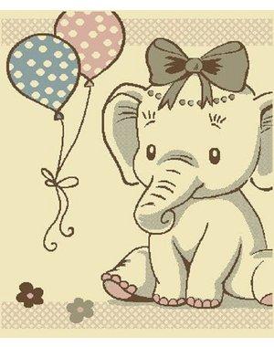 Vloerkleed voor de kinderkamer met olifant
