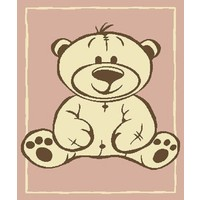 Vloerkleed voor kinderen met beer roze