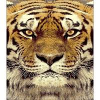 Modern vloerkleed met tijger